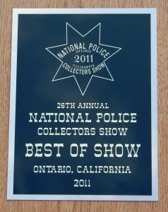 National Show Award Plaque